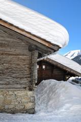 épaisseur de  neige sur toiture