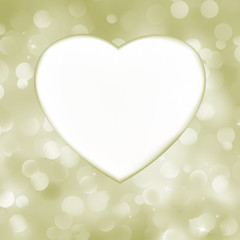 Elegant valentine heart card. EPS 8