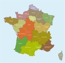 "france 14 régions ""5 calques propres"""