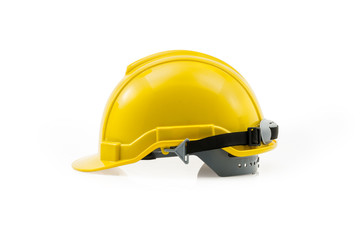 Yellow Hard Hat with Clipping Path