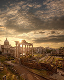 Famous Roman ruins in Rome, Capital city of Italy - 66188684