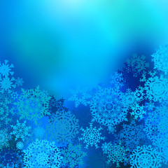 Winter snow background with snowflakes. EPS 8