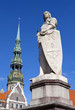 St. Roland Statue and St. Peter's Church in Riga