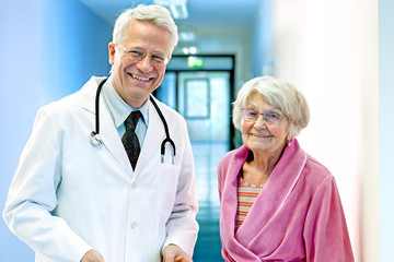 Doctor with Elderly Female.