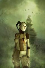 Fantasy gothic puppet girl