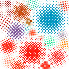 Halftone vector illustration Set background. EPS 8