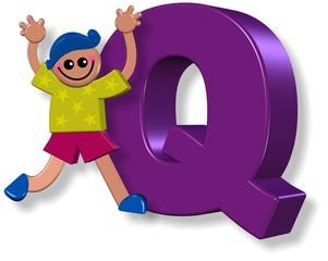 Alphabet Q Boy