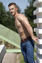 Beautiful muscular male model