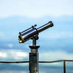 Big telescope on the point of view