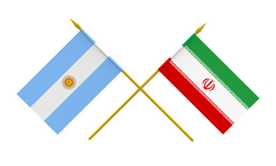 Flags, Argentina and Iran