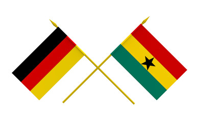 Flags, Germany and Ghana
