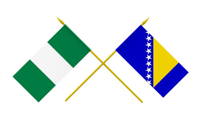 Flags, Nigeria and Bosnia and Herzegovina