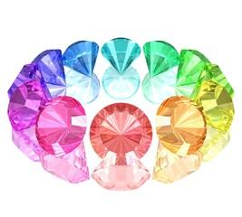 geschliffene Edelsteine in verschiedenen Farben