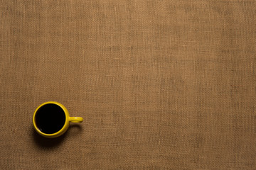 Coffee Mug Background - Top View