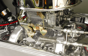 high performance hotrod carburetor detail