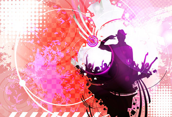 Music event background. Vector