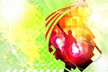 Music event background for poster. Vector