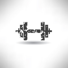 Weight lifting symbol,grunge vector