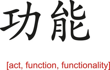 Chinese Sign for act, function, functionality