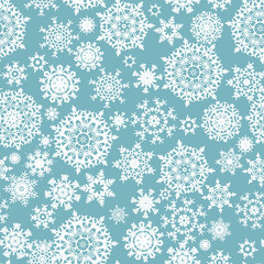 Seamless card with Christmas snowflakes. EPS 8