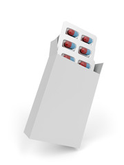 Capsules in white box