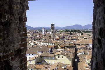 Panorama di Lucca vista dalla torre Guinigi
