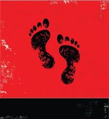 Foot symbol,vector