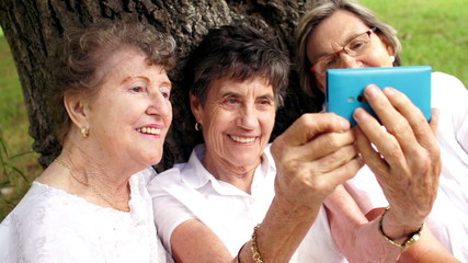 Senior women with smartphone