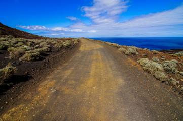 Stony Road at Volcanic Desert