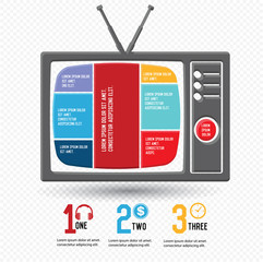 Television design,Chart info graphics,vector