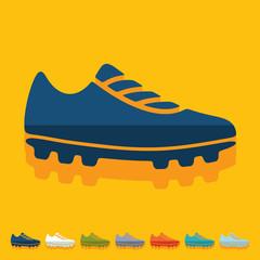 Flat design: sneakers