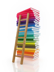 Ladder on Stack of Books, illustration