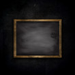 Grunge brick wall background with chalkboard