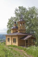 Часовня в деревне Марковская, Вологодской области, Россия