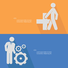 Human resource concept,vector