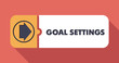Goal Settings on Scarlet in Flat Design. - 66199658