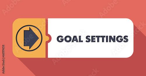 Goal Settings on Scarlet in Flat Design. - 66199658