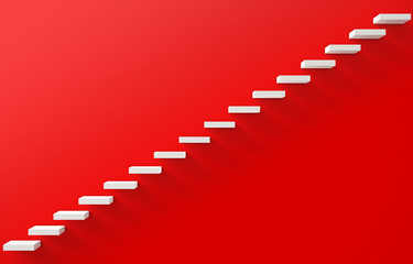 Stairs Rendered on the Red Wall