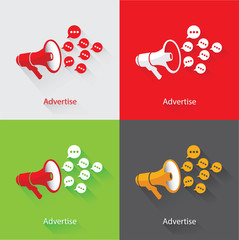 Advertise Concept,vector
