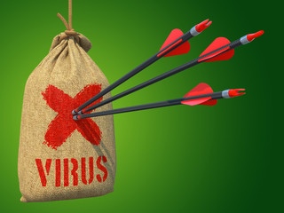 Virus - Arrows Hit in Red Mark Target.