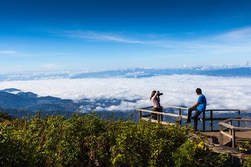 beautiful viewpoint at Doi Inthanon National Park