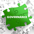 Governance - Concept on Green Puzzle.