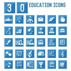 30 Education icons,vector
