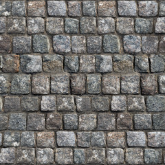 Gray Old Stone Road Surface -Seamless Texture.