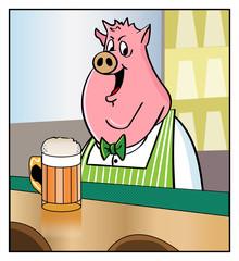 Bartending Pig