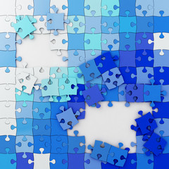 Multicolored Puzzle Illustration, Jigsaw