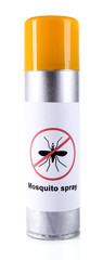 Mosquito spray isolated on white