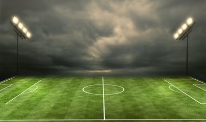 Stadium with Spot Lights