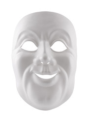 White mask isolated on white with clipping path