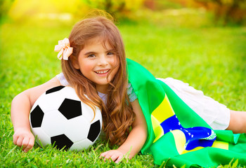 Young cheerful football fan